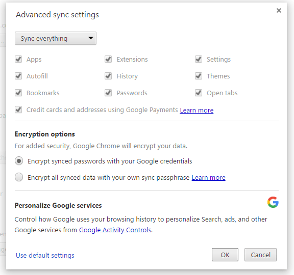 How to backup Google Chrome Settings
