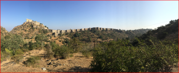 Panoramic view of Kumbhalgarh Fort about 2 km from Fort